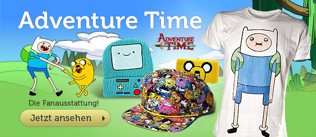 Adventure Time - T-Shirts, Geldb�rsen, M�tzen, Schals zur Cartoon-Serie