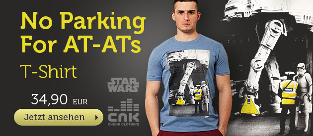 Star Wars - No Parking For AT-ATs T-Shirt