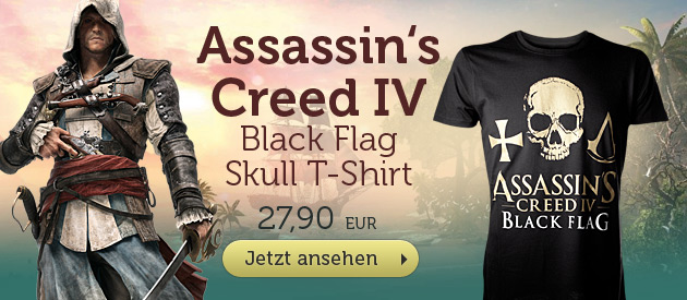 Assassin's Creed IV Black Flag - Skull T-Shirt - 27,90 EUR