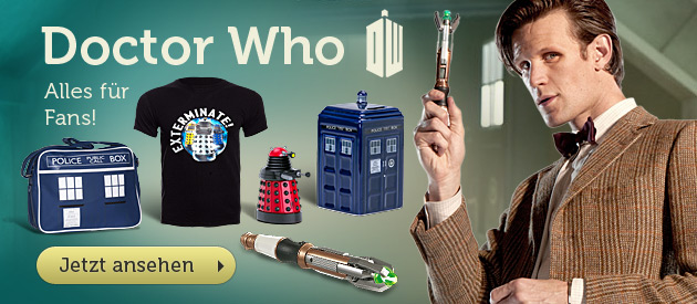 Doctor Who - T-Shirts, Daleks, Tardis in gro�er Auswahl