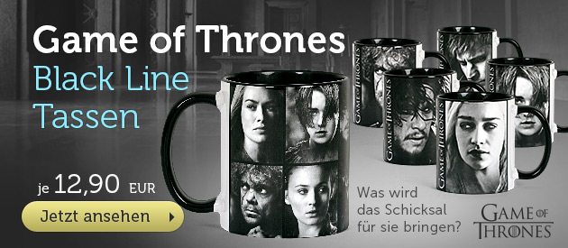 Game of Thrones Tassen - Black Line