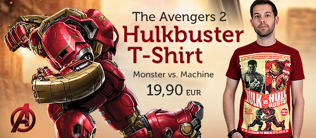 The Avengers  2 - Age of Ultron - Hulkbuster T-Shirt rot - 19,90 EUR