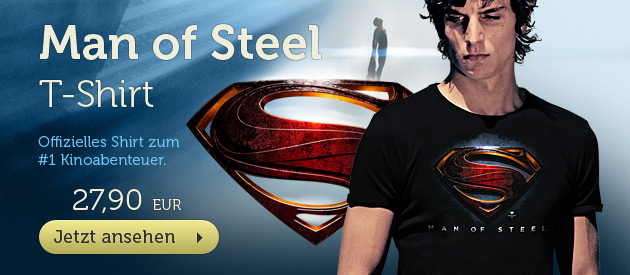 Superman - Man of Steel Logo T-Shirt - 27,90 EUR