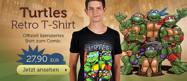 Teenage Mutant Ninja Turtles - Retro Turtles T-Shirt - 27,90 EUR