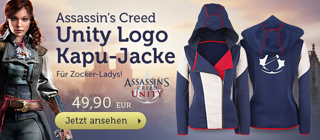 Assassins Creed - Unity Logo Girlie Kappujacke - 49,90 EUR