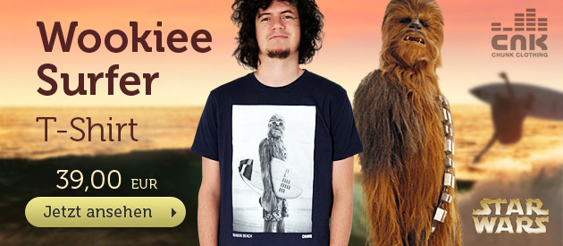 Star Wars - Wookiee Surfer T-Shirt  - 39 EUR