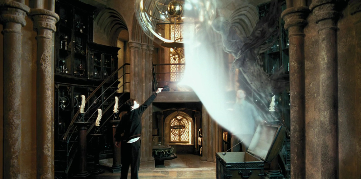 Harry Potter mit Patronus